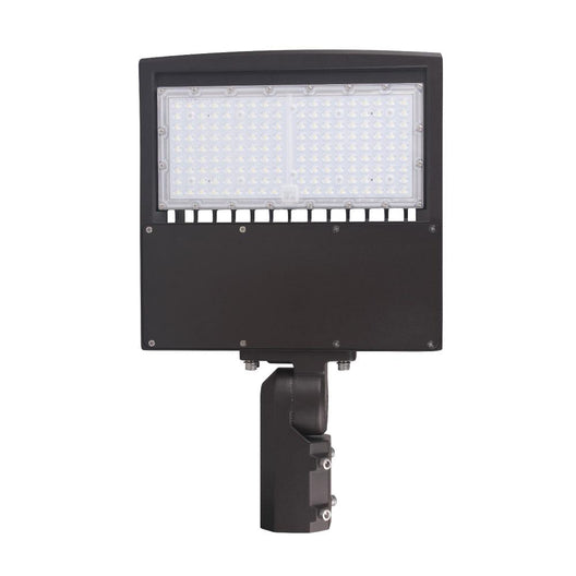 LED Pole Lights 150W - Black - AC100-277V - IP65 - Adjustable Slip Fitter Mount - 5700K Street Security Light