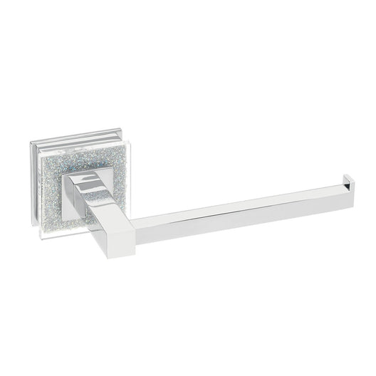 Valencia Toilet Paper Holder Luxury Bathroom Accessory - Crystal and Chrome