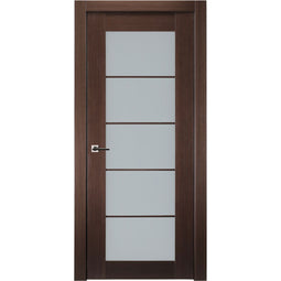 5 Lite French Interior Door in Wenge Finish