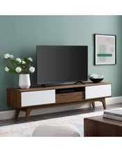 Load image into Gallery viewer, Mid - Century Modern Low Profile Media Entertainment Center Tv Console Table