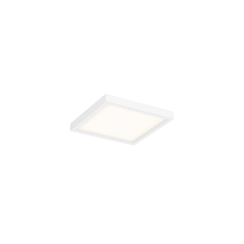 Square LED Pro Flushmount, 3000K (Warm White), White Finish