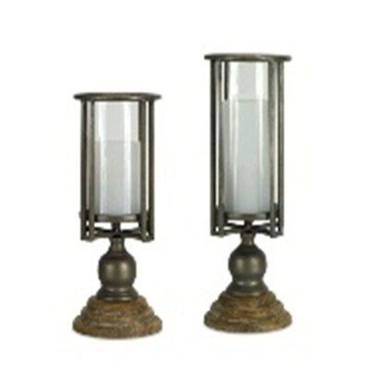 Candle Holder on Pedestal (Set of 2) 12.25
