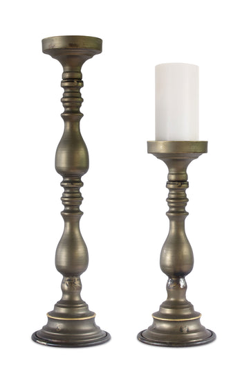 "Candle Holder (Set of 2) 15.25""H, 23""H Metal"