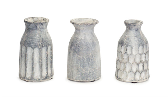 Ceramic Vase, Set of 6 - 7.5 Inches