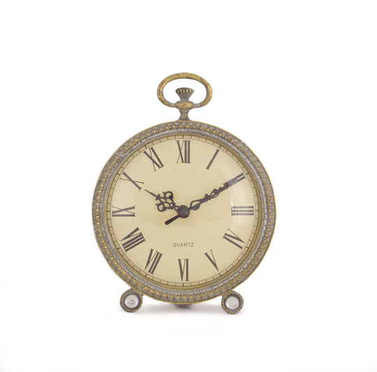 "Clock (Set of 2) 7.25""H Metal/Glass"