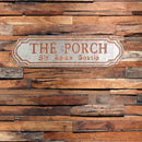 "Load image into Gallery viewer, Porch Sign (Set of 2) 35"" x 10""H Metal"