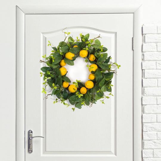 "Lemon Wreath 24""D Polyester"