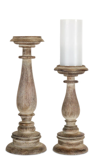 "Candle Holder (Set of 2) 11.5""H, 15""H Resin"