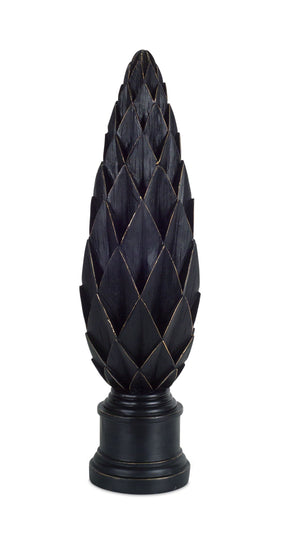"Finial 24""H Stone Powder/Resin"