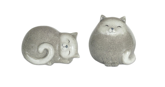 "Cat (Set of 4) 3.5""H, 5""H Terracotta"