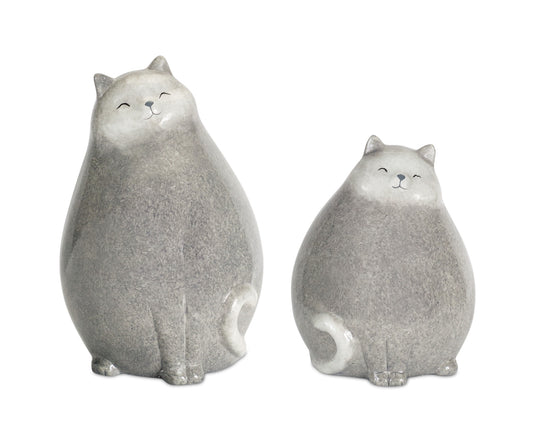 "Cat (Set of 4) 7.5""H, 9.25""H Terracotta"