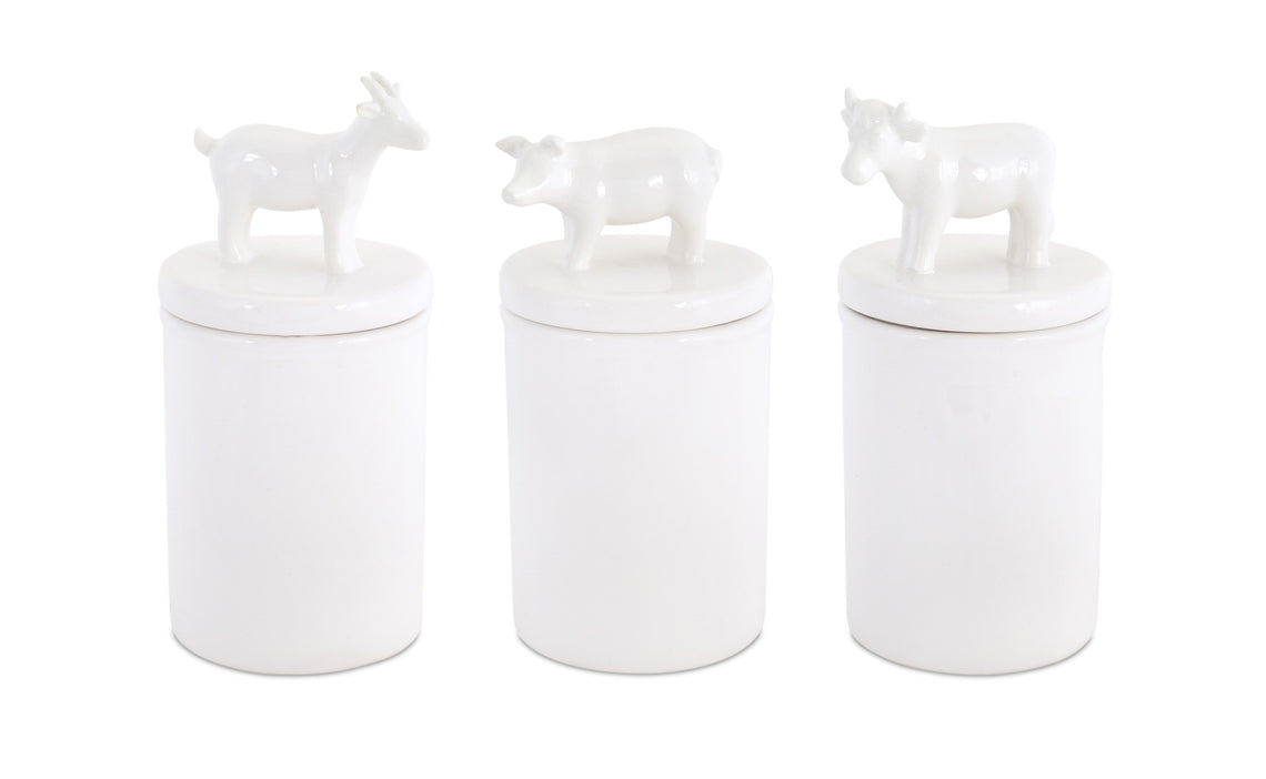 Farm Animal Canisters (Set of 3) 3.75