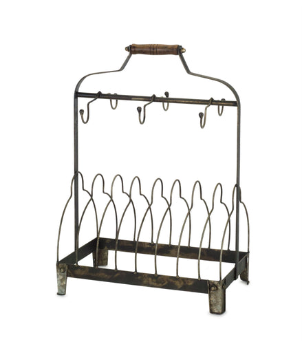 Rack with Hooks (Set of 2) 11.25