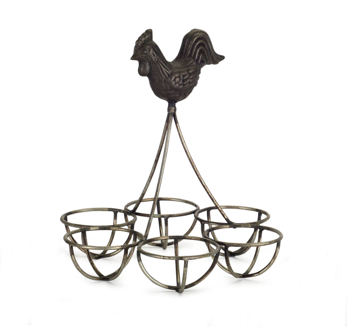 Rooster/Egg Holder (Set of 4) 6.25