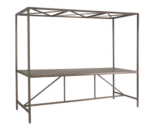 "Table 94.5"" x35.5""x 79""H Iron/Wood"
