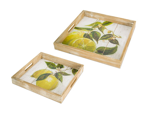 Lemon Print Tray (Set of 2) 13.5