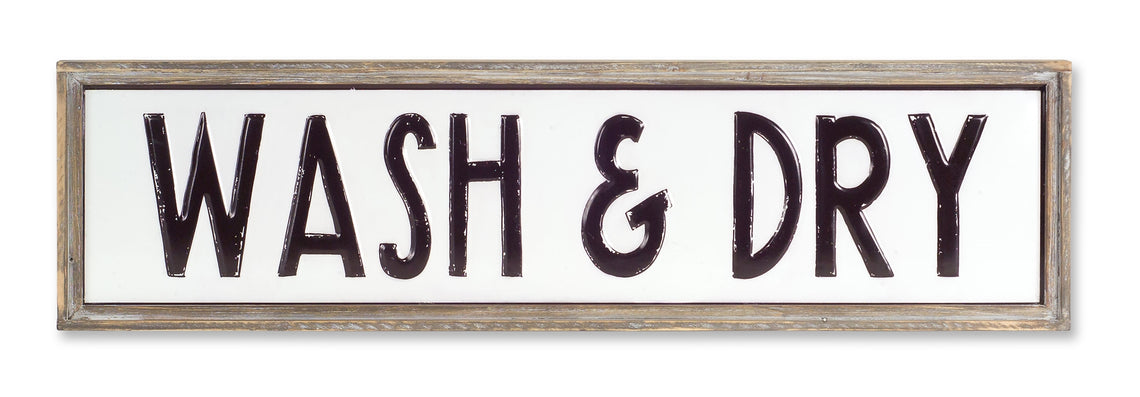 WASH & DRY Sign 36.75