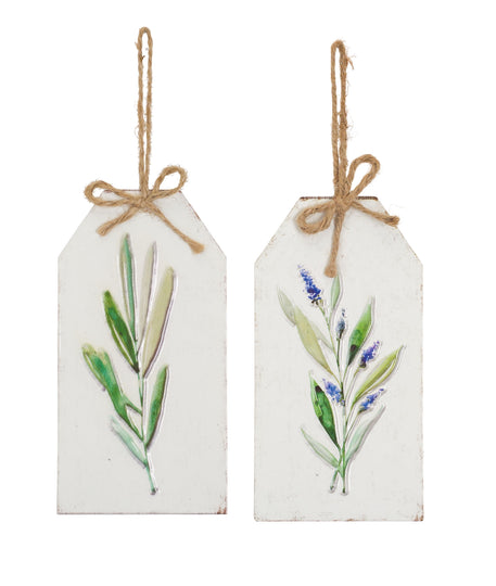 "Lavender Tag (Set of 12) 8.25""H Tin"