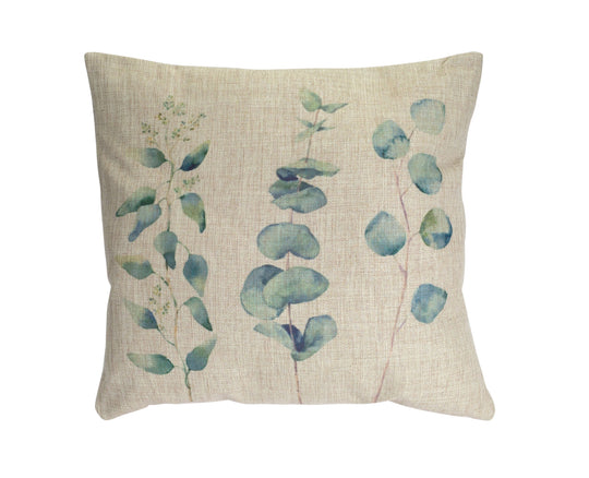 "Pillow (Set of 2) 17.5"" Polyester In Tan & Green"