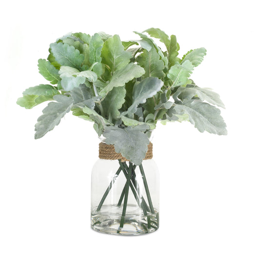 "Lambs Ear in Jar (Set of 2) 12.5""H Polyester/Glass"