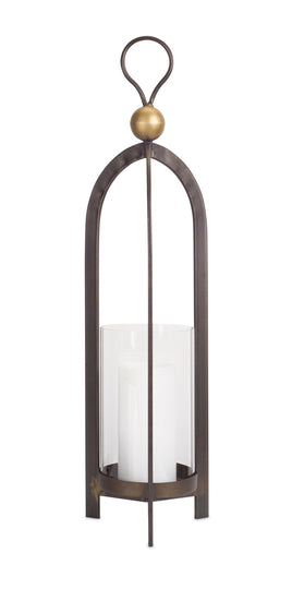 "24.5""H Candle Holder - Metal & Glass"