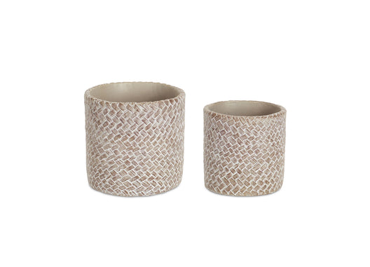 Cement Pots, 8 sets: 4 & 4.25 Inches
