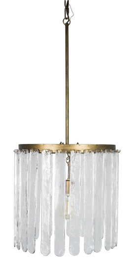 "Hanging Lamp 17.25"" x 37""H Iron/Glass (Max 40W)"