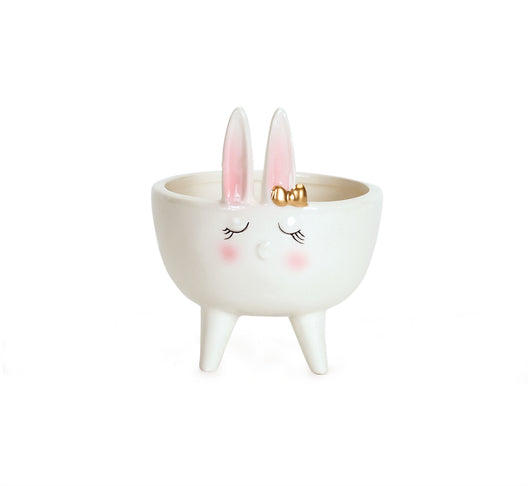 Dolomite Bunny Bowl set of 6: 4.25 x 5.25 Inches