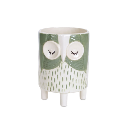 Dolomite Owl Pot, set of 6: 4.5 x 6.25 Inches