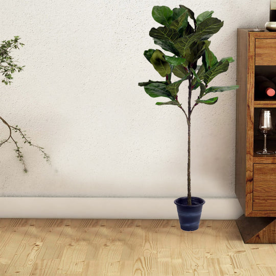 Potted Fiddle Leaf Fig In Polyester
