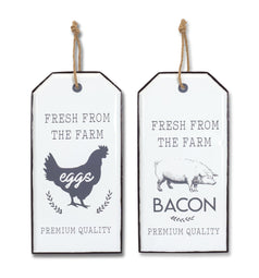 Chicken and Pig Wall Plaque (Set of 2) 10