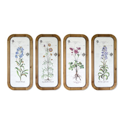 Floral Plaque (Set of 4) 12