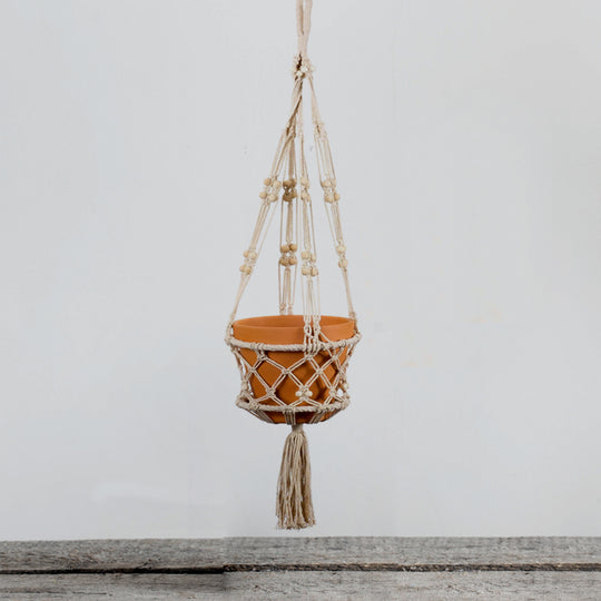 "Macrame Pot Holder (Set of 4) 40"" Rope"