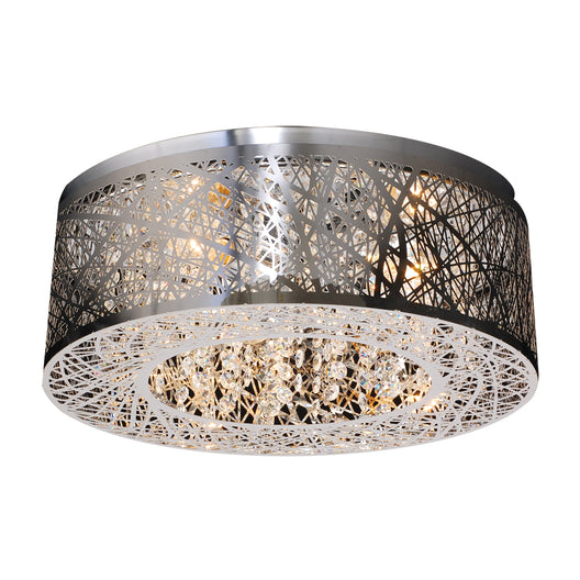 3 Light Ceiling Light Nest Collection, Polished Chrome Dimmable