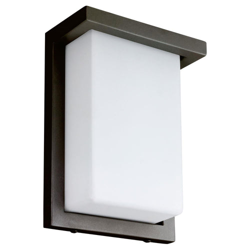 12 Watt Rectangle Metal LED Wall Sconce - 120V - 8 Inch - White Lens - 600Lm - Oil Rubbed Bronze