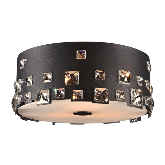 1 Light Ceiling Mount Twilight Collection, Black Dimmable Asfour Crystal