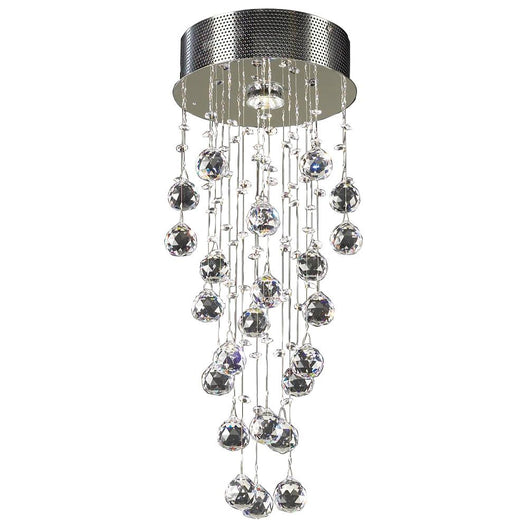 1 Light Ceiling Light Beverly Collection Polished Chrome Dimmable  Asfour Handcut Crystal