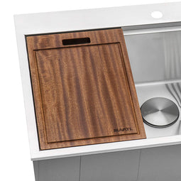 17 x 11 inch Solid Wood Cutting Board for  Workstation Sink