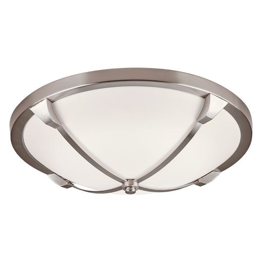 Adivina L. Led Ceiling Lite Satin Nickel Dimmable Opal Acrylic