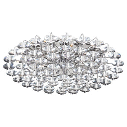 18 Light Ceiling Light Diamente Collection PC Polished Chrome Dimmable  Asfour Handcut Crystal