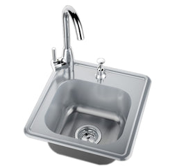 Single Sink w/Hot & Cold Water