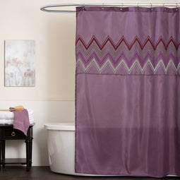 Myra Purple Shower Curtain