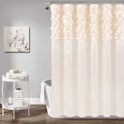 Lillian Beige Shower Curtain
