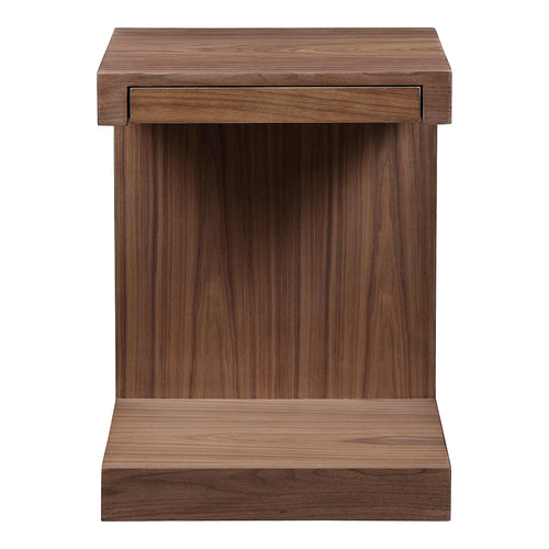 Zio Side Table Walnut Brown