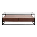 Load image into Gallery viewer, Contemporary Modern Dallas Coffee Table With Storage Shelf - Sofa Side Table