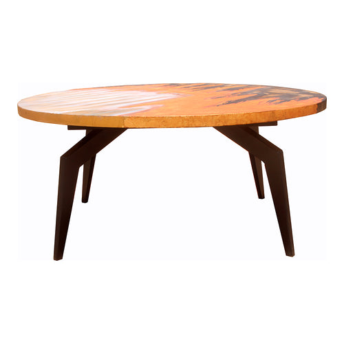 Knox Rustic Coffee Table Cappuccino