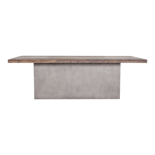 Contemporary Modern Kaia Oak Hallway Dining Table -  Balcony Breakfast Table - Dark Gray
