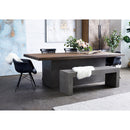 Load image into Gallery viewer, Contemporary Modern Kaia Oak Hallway Dining Table -  Balcony Breakfast Table - Dark Gray
