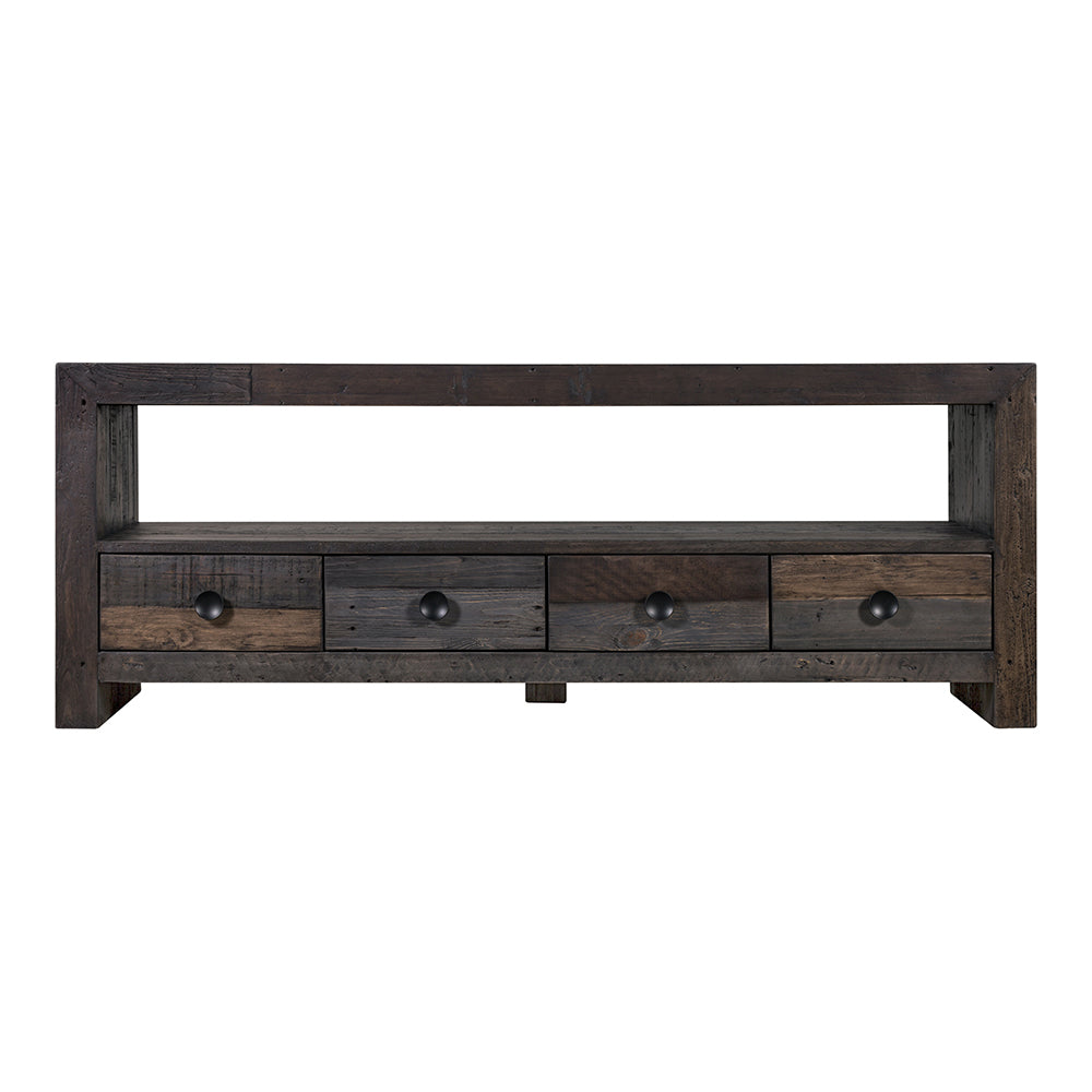 Vintage Wooden Tv Table Stand - MEdia Center For Living Room - Tv Unit