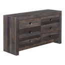 Load image into Gallery viewer, Vintage 6 Drawer Dresser Grey, Rustic, Grey